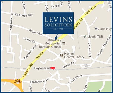 Levins Solicitors Map